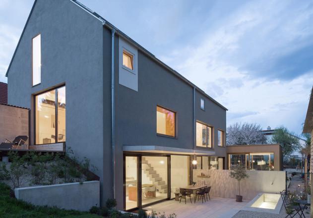 fabi architekten Neubau Doppelhaus double sufficient