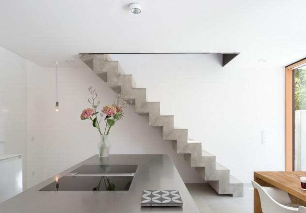 fabi architekten Neubau Doppelhaus double sufficient Küche