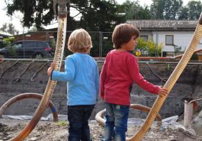 Bautagebuch Architektur-Kolumne Erdaushub entsorgen Baugrube Pumpen