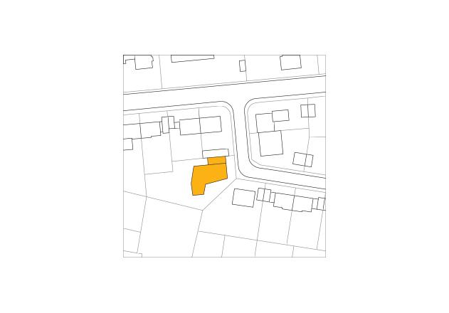 Lynx Architecture Einfamilienhaus gestockter Beton Lageplan