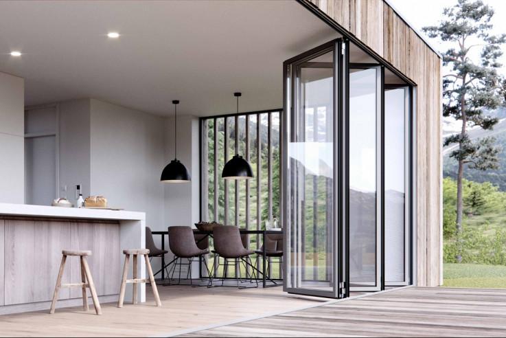 Solarlux Glas-Faltwand barrierefrei bauen