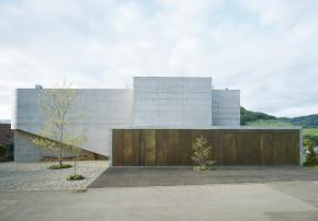 Buchner Bründler Architekten Einfamilienhaus aus Beton Gelterkinden Aussenansicht Wohnskulptur