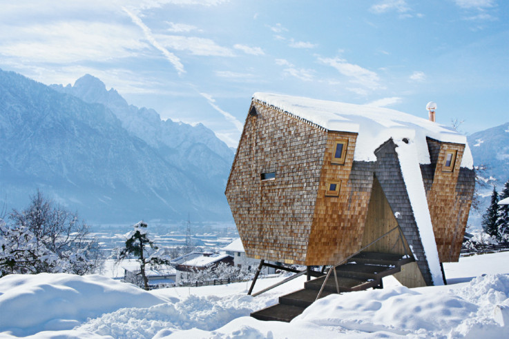 Ufogel Minihaus Architekturbüro Jungmann Aberjung- Design Agency Kreuzlagenholz