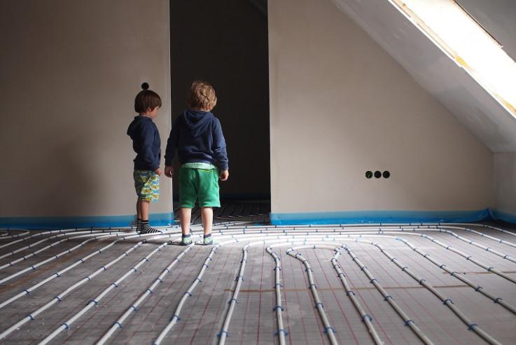 Heizungsrohre Dachgeschoss