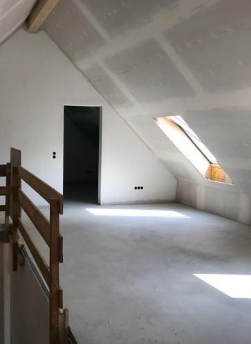 Dachgeschoss gespachtelt