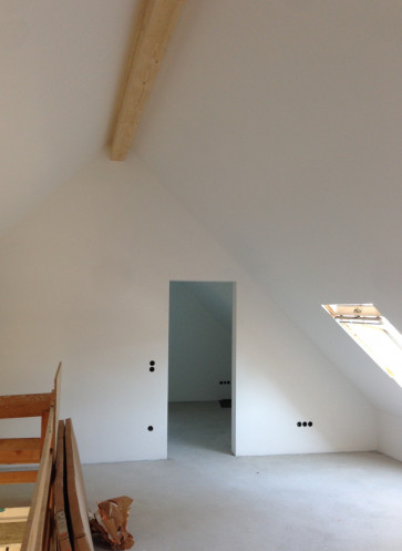 Dachgeschoss gestrichen