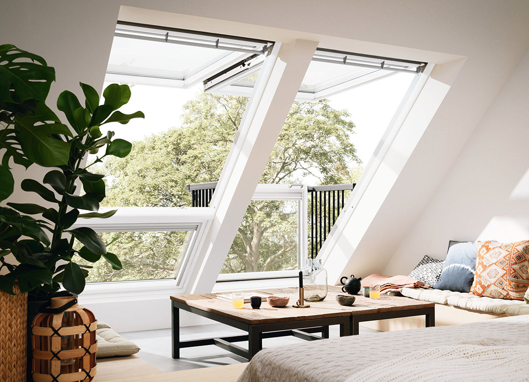 dachfenster cabrio von velux produkttrends. Black Bedroom Furniture Sets. Home Design Ideas