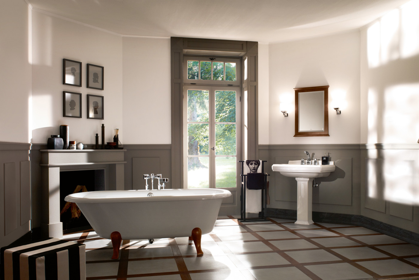 freistehende badewanne hommage von villeroy boch. Black Bedroom Furniture Sets. Home Design Ideas