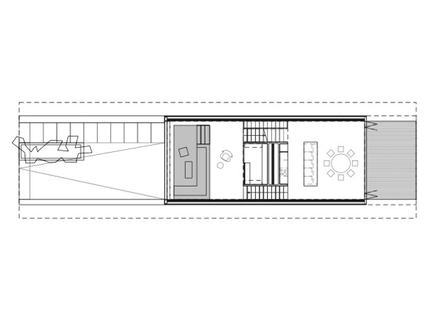 Laket Architekten Split-Level-Haus Grundriss EG
